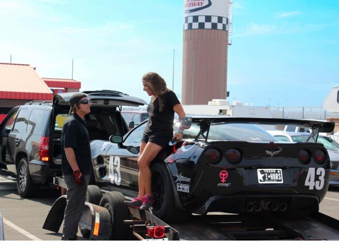 Stephanie with Car